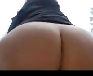 Blonde with a really big ass masturbating in the snow outdoor