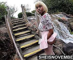 4k Sheisnovember Youthful Pussy And Big Ass Public Flash