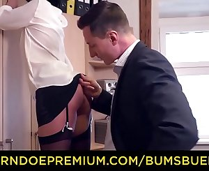 German Secretary Mareen Deluxe Seducing Boss to Fuck