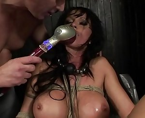Under total domination. Abased bitch mouth fucked and screwed painfully in her all holes.BDSM movie.Hardcore bondage sex.